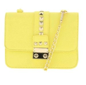 BCBG | Yellow Studded Caviar Bag